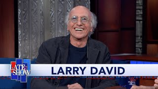 """Larry David Reminisces About Colbert's Guest Spot On """"Curb Your Enthusiasm"""""""