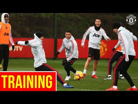 Manchester United train ahead of Brighton Clash | Alexis Martial Mata Herrera Bailly Lukaku