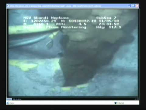 Underwater Video Of The Main Gulf Oil Leak