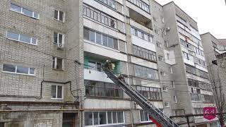 В высотке на 2 м Московском проезде горела лоджия