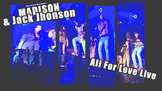 Madison Beer and Jack Johnson All For Love Live