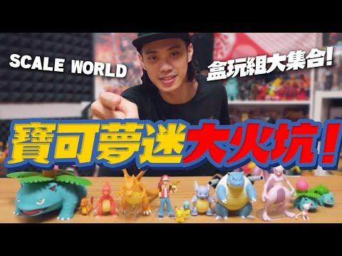 寶可夢迷大火坑!Pokemon Scale World 精靈寶可夢盒玩組大集合!【玩具人玩玩具】