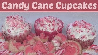 CANDY CANE CUPCAKES - DIY Holiday Dessert -  How To | SoCraftastic
