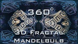 360° Descent into Fractal Core - Dark - Mandelbulb 3D fractal VR 4K