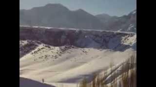 preview picture of video 'Горы в поселке Хайдаркан, зима 2008 года'