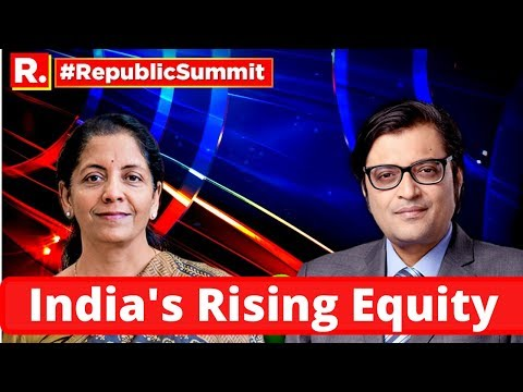 Finance Minister Nirmala Sitharaman Speaks At The Republic Summit On 'India's Rising Equity'