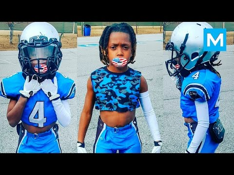 8 Year Old American Football Phenom Jaylen Huff | Muscle Madness