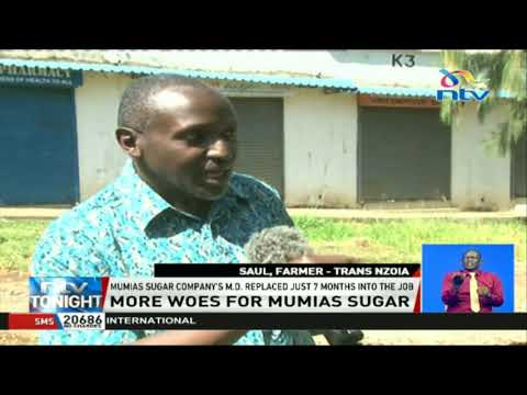 Sugar farmers dissatisfied with the replacement of Mumias MD