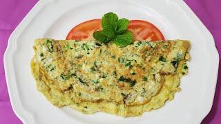 طريقة تحضير عجة البقدونس الشهية والسهلة والسريعة  Easy and Delicious Parsley Omelette Recipe