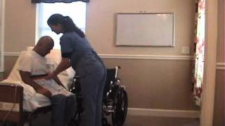 Transfer from bed to wheelchair WMV