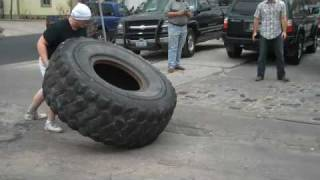 Flippin' tires at Hyde Park Gym