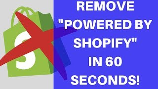 """How To Remove """"Powered By Shopify"""" From Your Store Footer [2021]"""