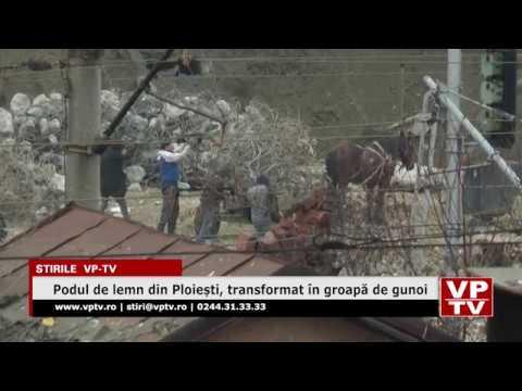 Podul de lemn din Ploiești, transformat în groapă de gunoi