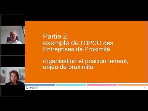 Les OPCO face à la crise sanitaire et aux perspectives de reprise – Exemple de l'OPCO EP