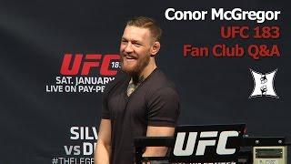 UFC 183 Q&A: Conor McGregor Talks More Smack About Aldo To Drunk Fans