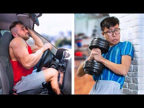 Musclor vs Crevette / Situations Amusantes Auxquelles Tout Le Monde Peut S'Identifier