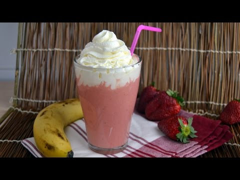 Video Strawberry-Banana Yogurt Smoothie - How to Make a Strawberry Banana Smoothie