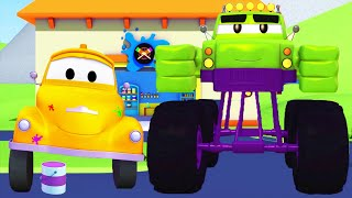 Марли - Халк / Малярная Мастерская Тома в Автомобильный Город 🎨 детский мультфильм