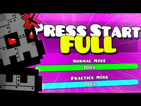 "THE BEST FULL VERSION ""Press Start Full"" [2.2 XL level] - Geometry Dash"