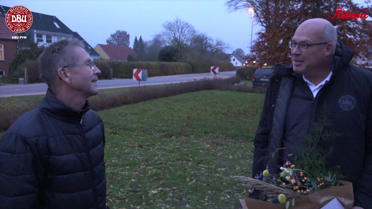 """Årets Fynske Fodboldleder overrasket med prisen: """"Jeg er rystet, men det er dejligt"""""""