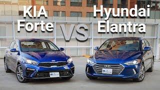 KIA Forte VS Hyundai Elantra - Frente a Frente   Autocosmos