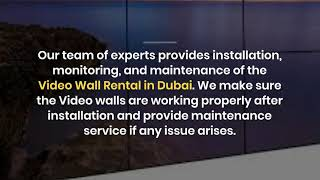 How LED Video Wall Rental can be Smart Choice in Dubai?