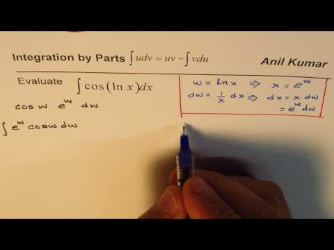 IMPORTANT Substitution and Integration and Parts to find Integral cos Ln x