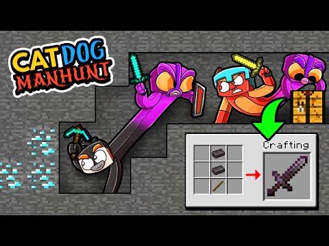 Manhunt CATDOG...2 Players 1 Body! (Speedrunners vs Hunters)