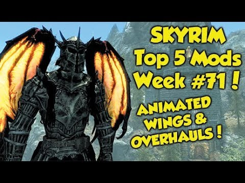 Skyrim SE Xbox One/PC Mods|Animated Dragon Wings - Alt