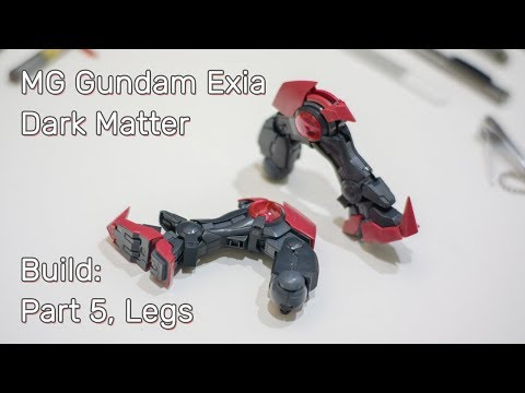 MG Exia Dark Matter. Build: Part 5, Legs