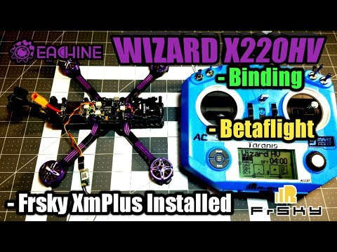 eachine-wizard-x220hv-bindingbetaflightreceiver-installed