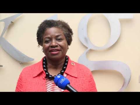 A Diretora Executiva do UNFPA, Dra. Natalia Kanem, visita o Memorial do Genocídio de Kigali, Ruanda