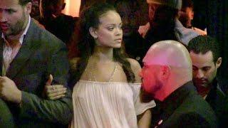 Rihanna, Boyfriend Travis Scott and Jared Leto attending the Vogue Party in Paris