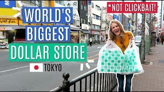 SHOPPING WORLD'S BIGGEST DOLLAR STORE (and organizing a mini Japanese kitchen!)
