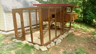 Backyard Chickens   Chicken Coop Tour  Easy To Clean