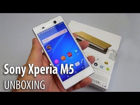 Sony Xperia M5 Dual Unboxing (Waterproof midrange cameraphone) - GSMDome.com