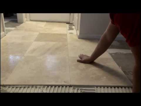 How to install marble tiles