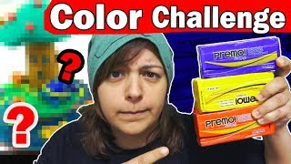 PRIMARY COLOR CHALLENGE (no black or white) 3 colors art craft diy with polymer clay