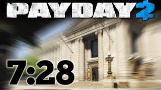 PAYDAY 2 - Big Bank - Speedrun 7:28m [One Down - Pacifist]