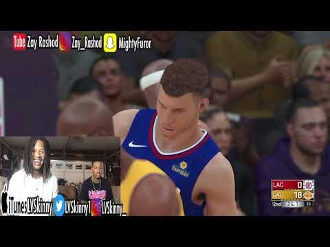 NBA 2K18 - LVSkinny Vs. Zay Rashod (Playing With RANDOM All-Time Great Teams)