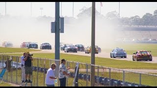HSR Sprint Race 1 start Daytona Nov 2014 Group 10 ONBOARD Bisjoux Wilzig Racing