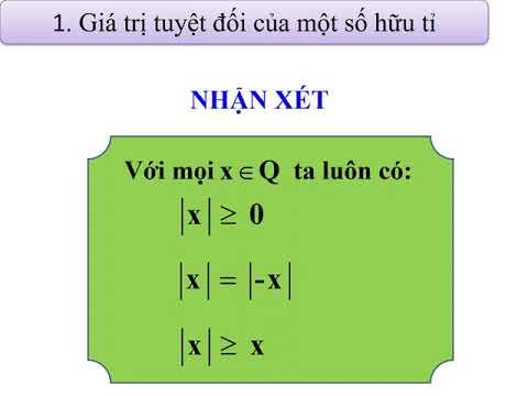 Bài 4. Giá trị tuyệt đối của số hữu tỉ. Cộng, trừ, nhân, chia số thập phân.