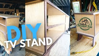 How To Build A Modern Media Console // TV Stand // DIY HOME FURNITURE