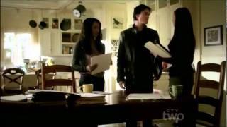 "3x12 Damon & Elena ""We kissed, now it's weird"" Vampire Diaries"