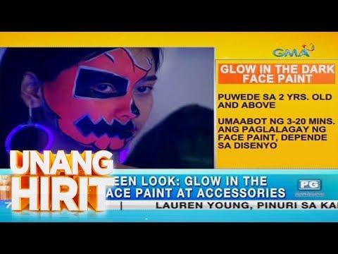 [GMA]  Unang Hirit: Glow-in-the-dark face painting, puwedeng subukan ngayong Halloween