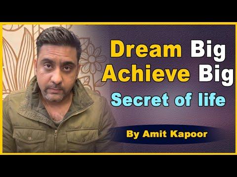 Dream Big Achieve Big | Secret of life | #ASTROLOGERAMITKAPOOR