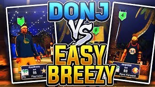 DONJ RAGING and CRYING LIVE!!😡😂 DONJ3205 vs EASY BREEZY • DID HE GET DROPPED OFF?! NBA 2K17