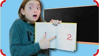 Получила ДВОЙКУ!!! Выбросила Дневник в МУСОРКУ! Обманула маму! Для детей Kids children