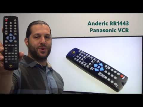 ANDERIC RR1443 Panasonic VCR Remote Control