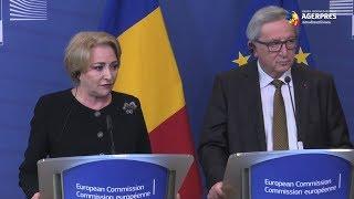 Juncker: Am transmis premierului că am încredere în sistemul judiciar românesc